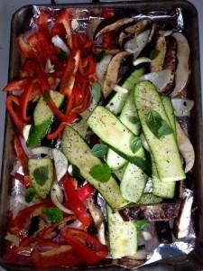 Roasted Vegetables for Lasagna